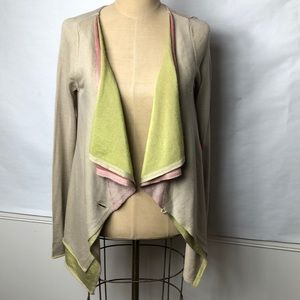 Anthropologie triple layered draped front cardigan